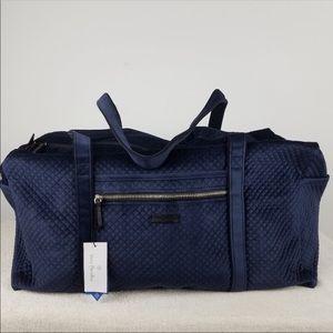 Vera Bradley Large Navy Blue Duffle Bag NWT